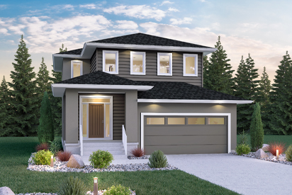DG 14 C - The Biscayne Broadview Homes Winnipeg 2-storey home with vinyl siding and stucco