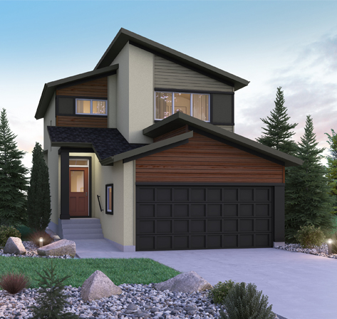 DG 10 B Preston 2-storey home with vinyl and stucco Broadview Homes Winnipeg