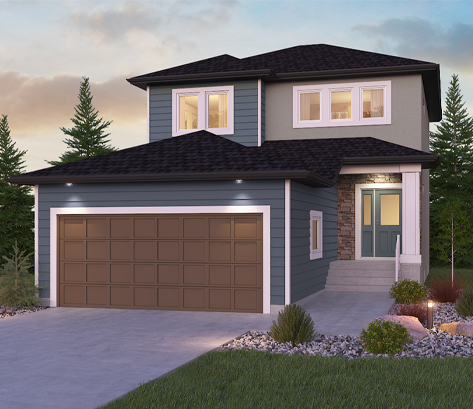 DG 11 A Dawson 2-storey home with vinyl siding and stucco Broadview Homes Winnipeg