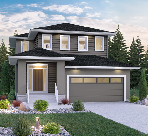 DG 14 C Biscayne 2-storey home with stucco and siding Broadview Homes Winnipeg
