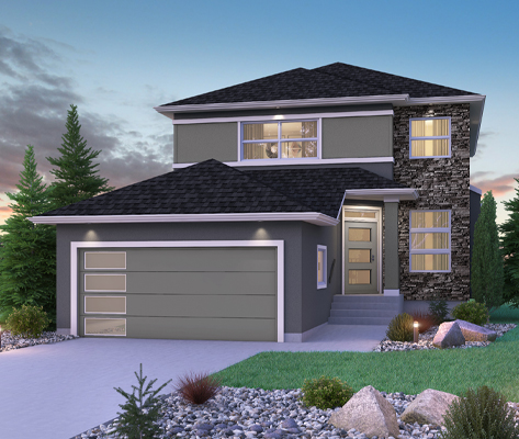 DG 16 G Monticello 2-storey home with stucco and cultured stone Broadview Homes Winnipeg