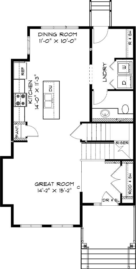 Modified Main Floor Plan RG 106 The Torres