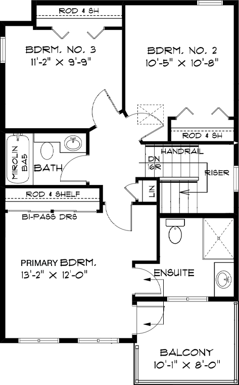 Modified Second Floor Plan RG 106 The Torres