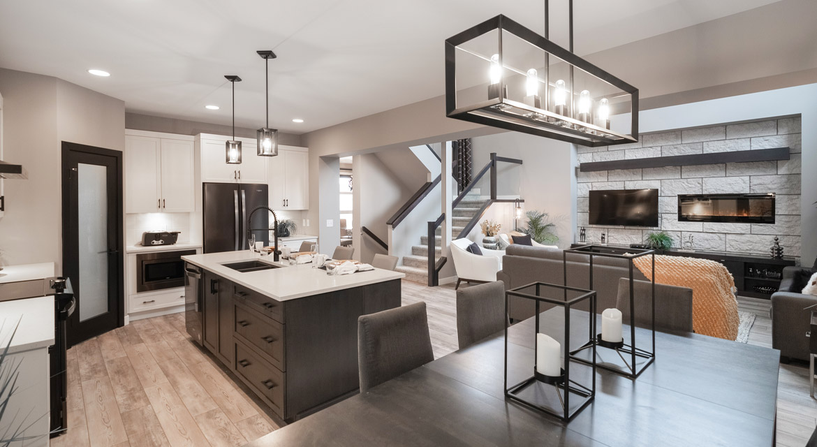 10. Eating Area Great Room and Kitchen - 88 Skyline Drive DG 16 G The Monticello Broadview Homes Winnipeg