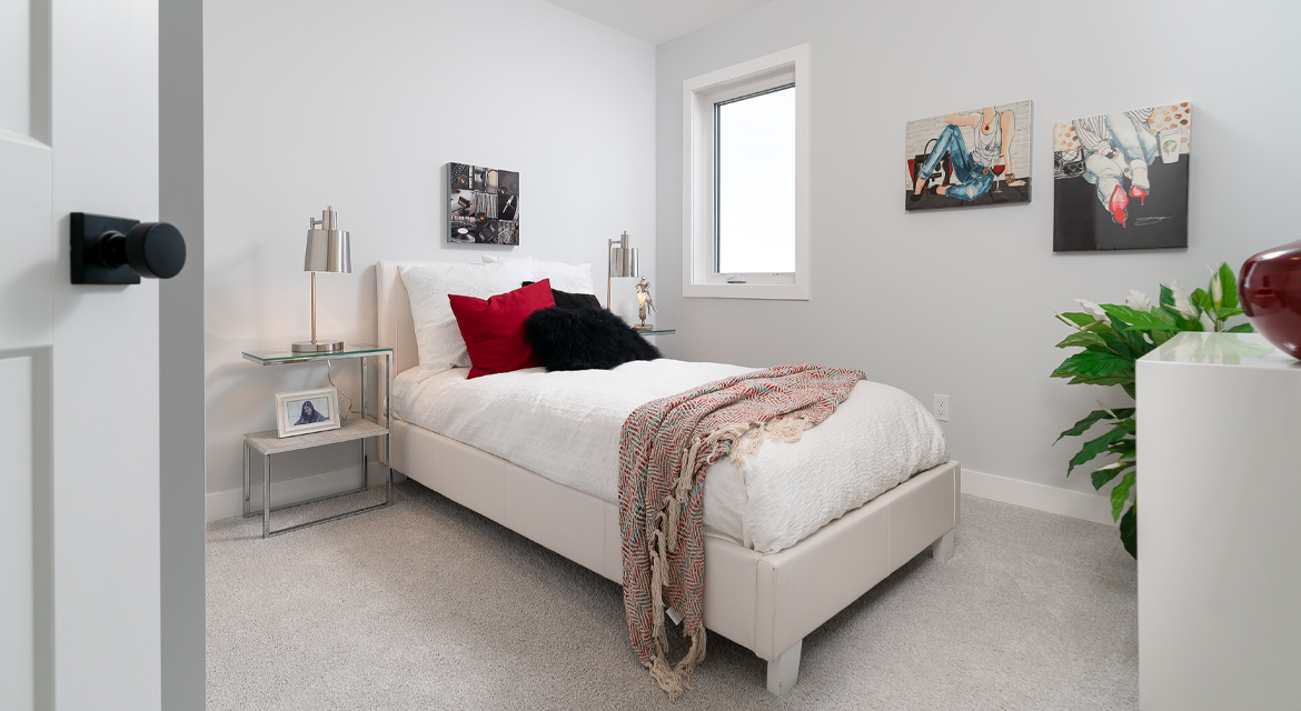 12. Secondary Bedroom - 326 Tanager The Torres RG 106 D Broadview Homes Winnipeg