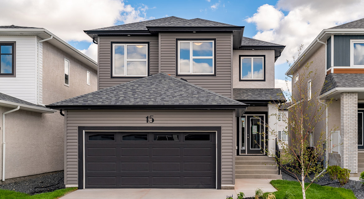 1. Front Exterior - 15 George Barone Bay - The Upton DG 47 A Broadview Homes Winnipeg