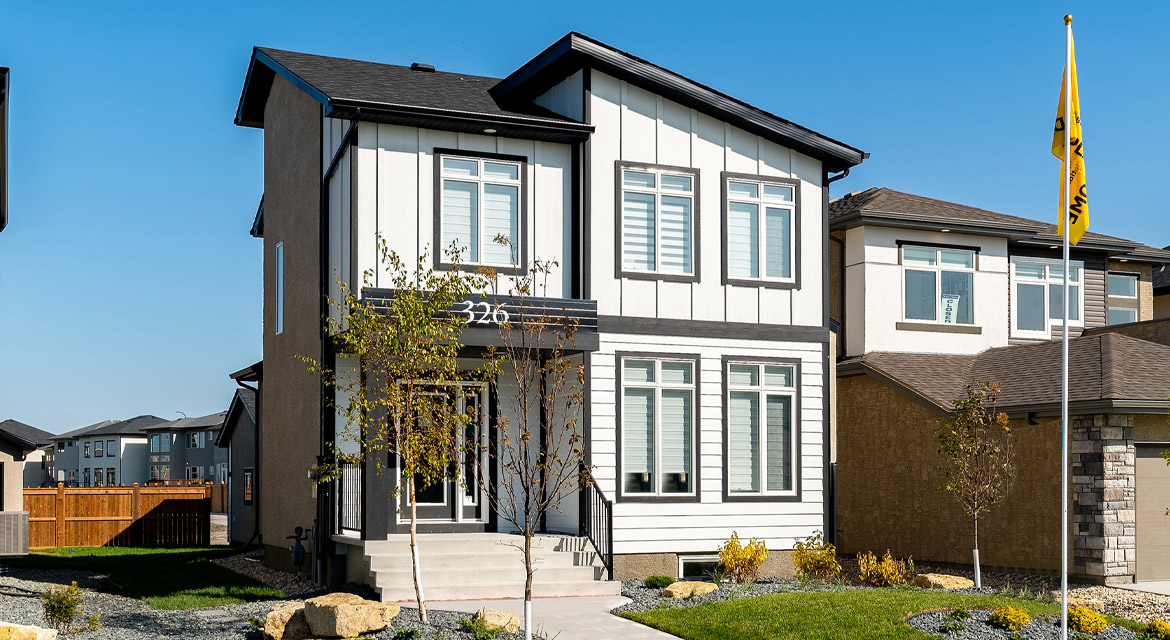 1. Front Exterior - 326 Tanager - The Torres RG 106 D Broadview Homes Winnipeg