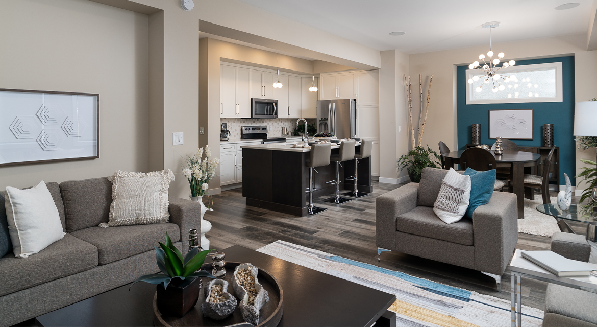 10. Kitchen and Eating Area - 380 Windflower Road The Biscayne DG 14 C Broadview Homes Winnipeg