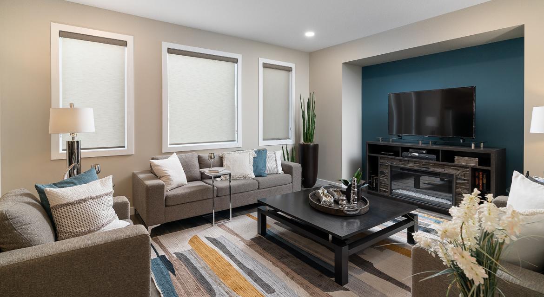 8. Great Room - 380 Windflower Road The Biscayne DG 14 C Broadview Homes Winnipeg