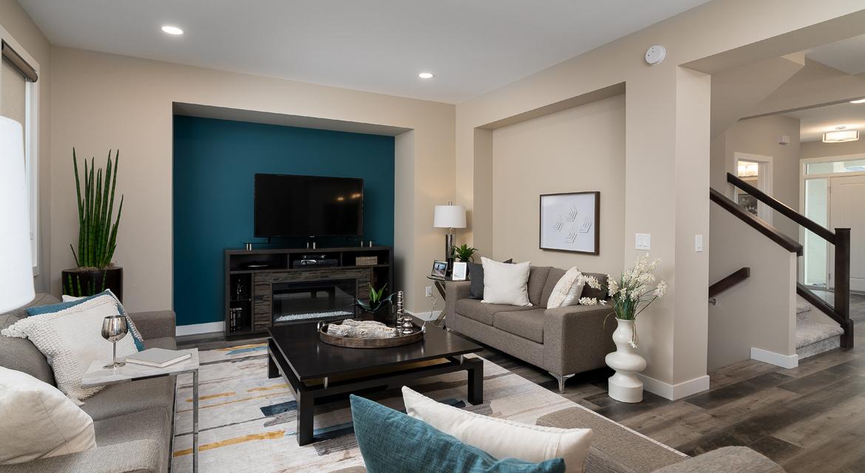 9. Great Room - 380 Windflower Road The Biscayne DG 14 C Broadview Homes Winnipeg