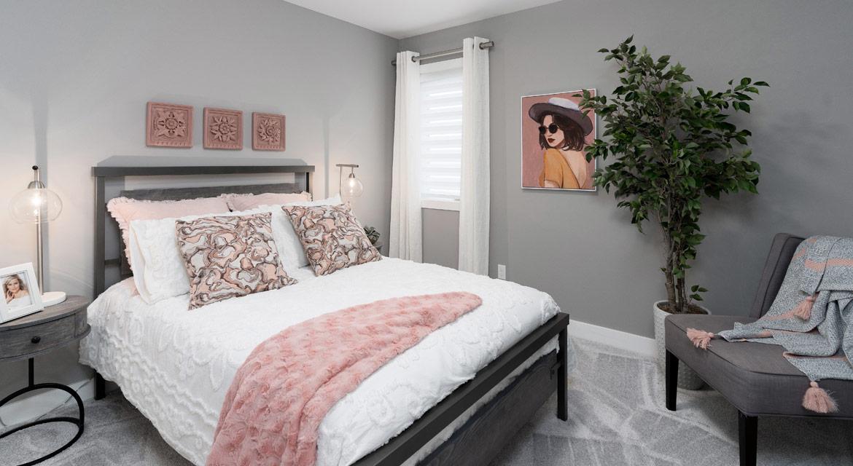 14. Secondary Bedroom  - 4 Merkel Manza The Dawson DG 11 Broadview Homes Winnipeg