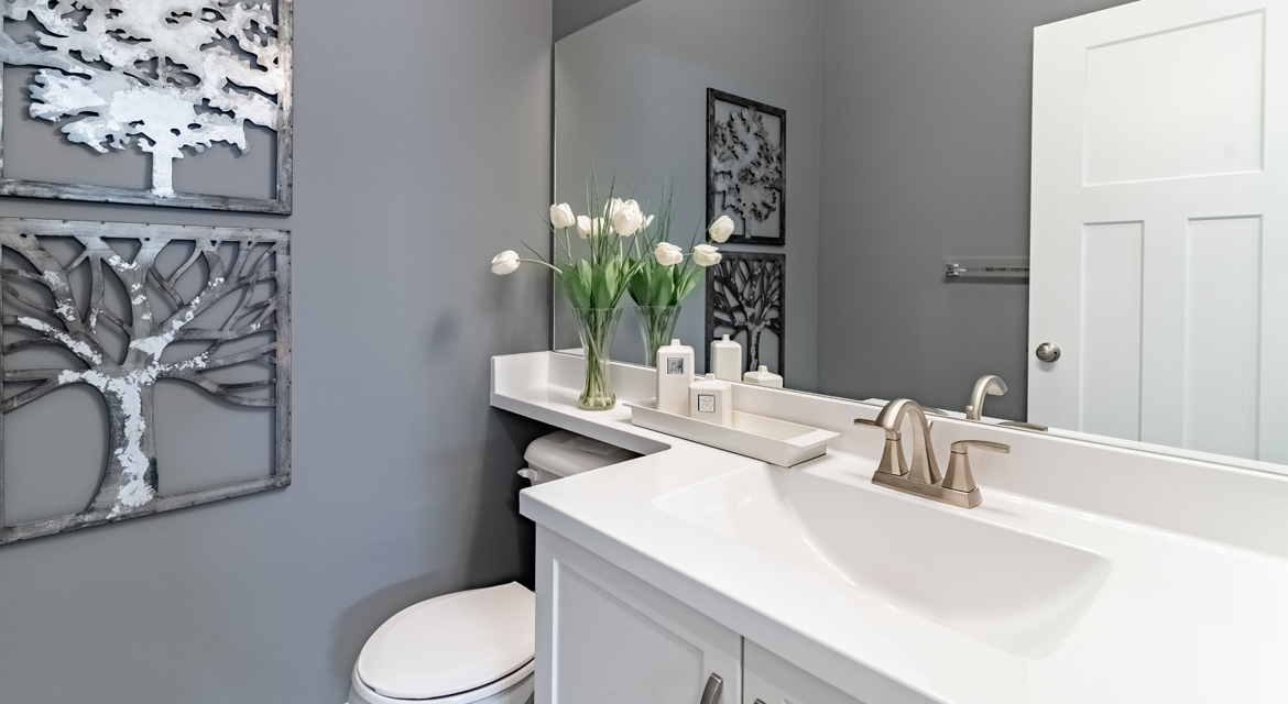 6. Powder Room - 4 Merkel Manza The Dawson DG 11 Broadview Homes Winnipeg