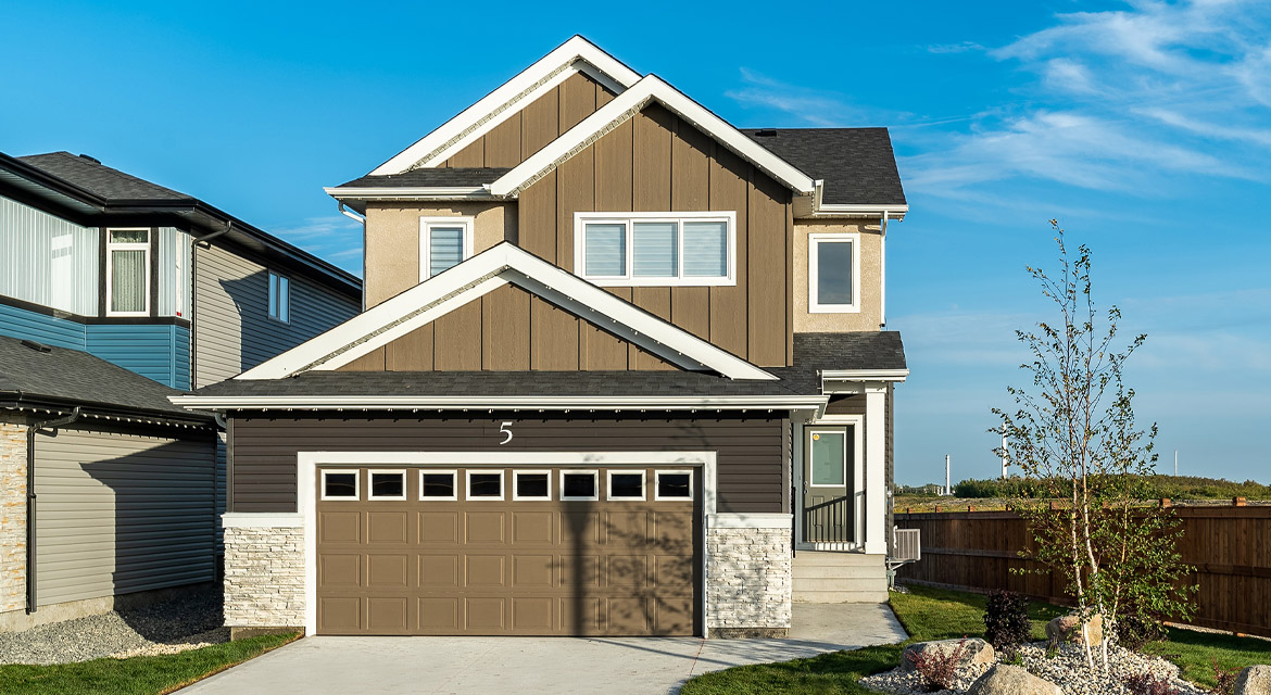 1. Front Exterior - 5 Orion - The Atwood DG 45 A Broadview Homes Winnipeg