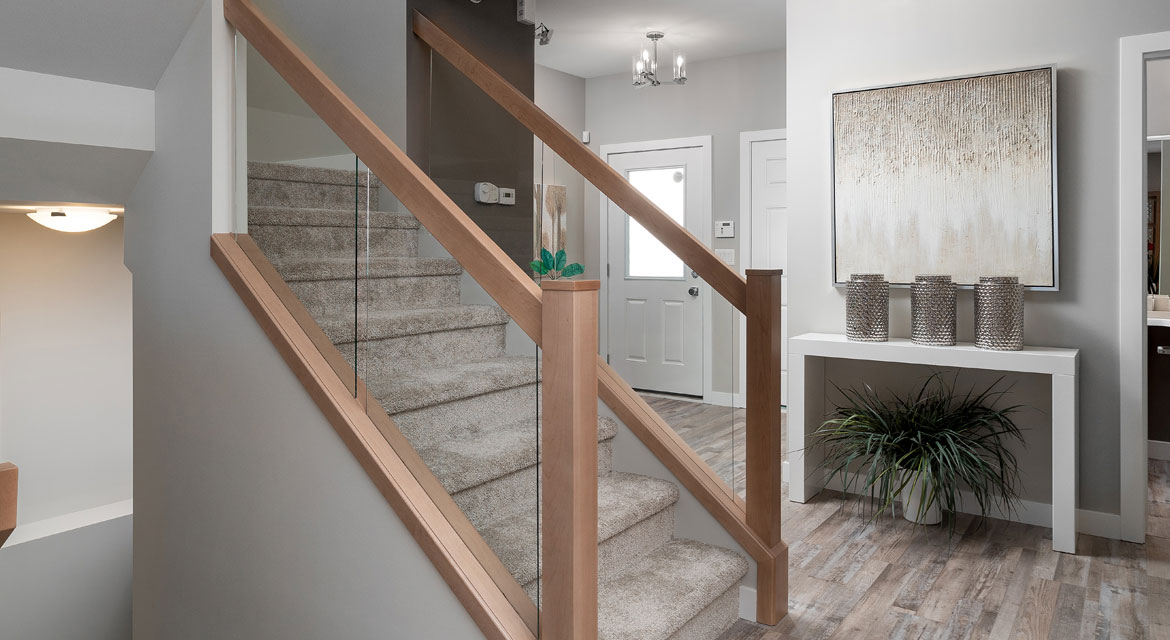 12. Staircase - 5 Orion The Atwood DG 45 A Broadview Homes Winnipeg