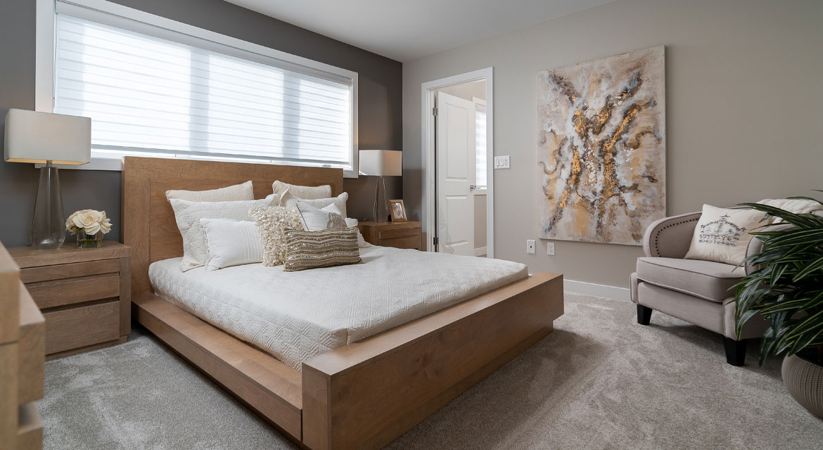 17. Master Bedroom - 5 Orion The Atwood DG 45 A Broadview Homes Winnipeg