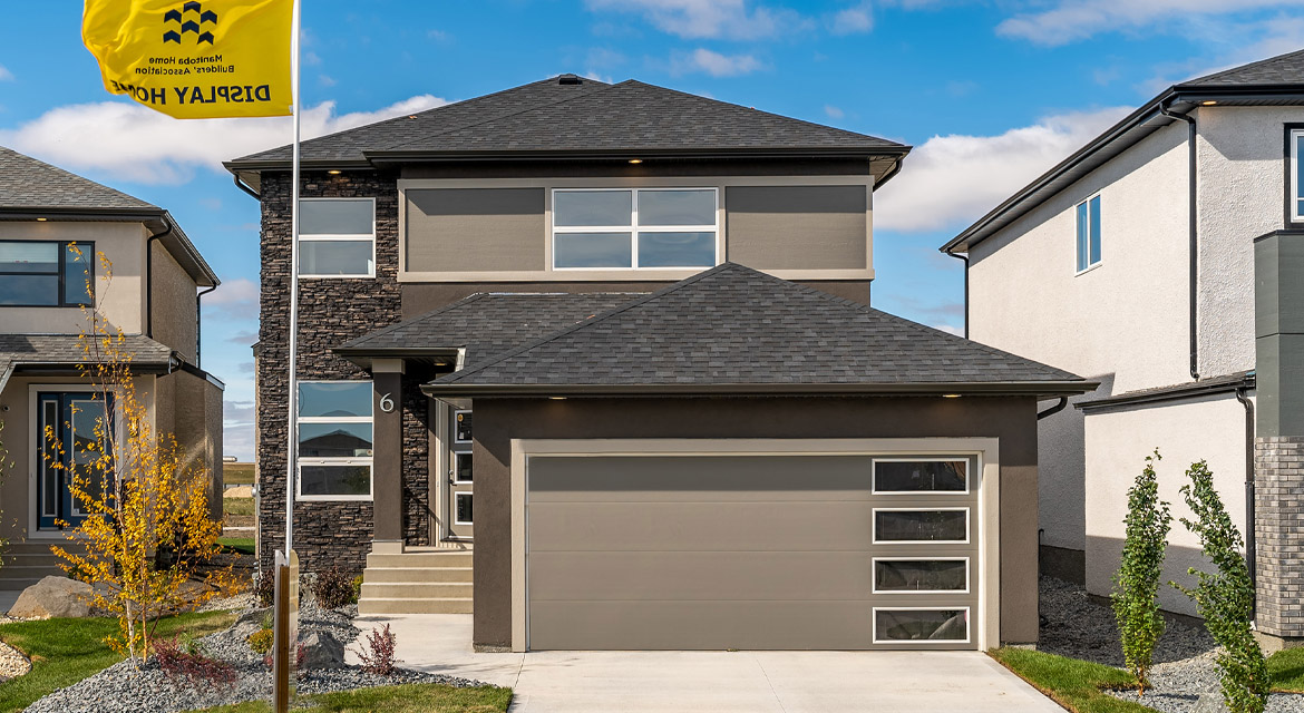 1. Front Exterior - 6 McCrindle Bay - DG 16 G The Monitcello Broadview Homes Winnipeg