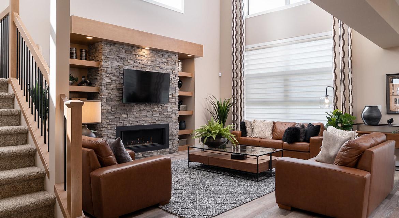 4. Great Room - 6 McCrindle Bay - DG 16 G The Monitcello Broadview Homes Winnipeg