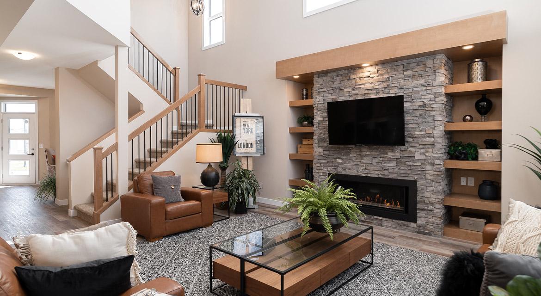 5. Great Room - 6 McCrindle Bay - DG 16 G The Monitcello Broadview Homes Winnipeg