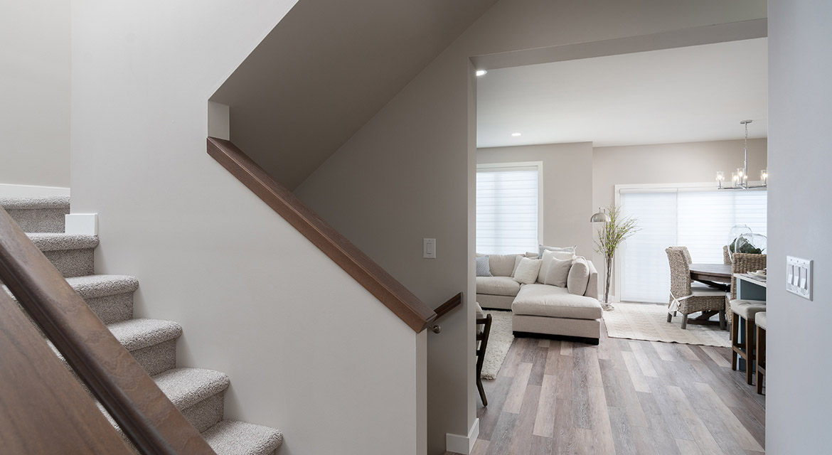 4. Staircase - 63 Crestmont Drive The Harlow DG 17 A Broadview Homes Winnipeg