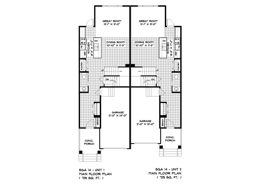 PLAN MAIN FLOOR SGA14-18