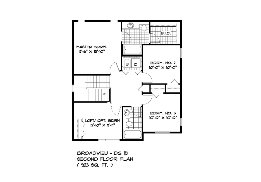PLAN SECOND FLOOR DG15-18