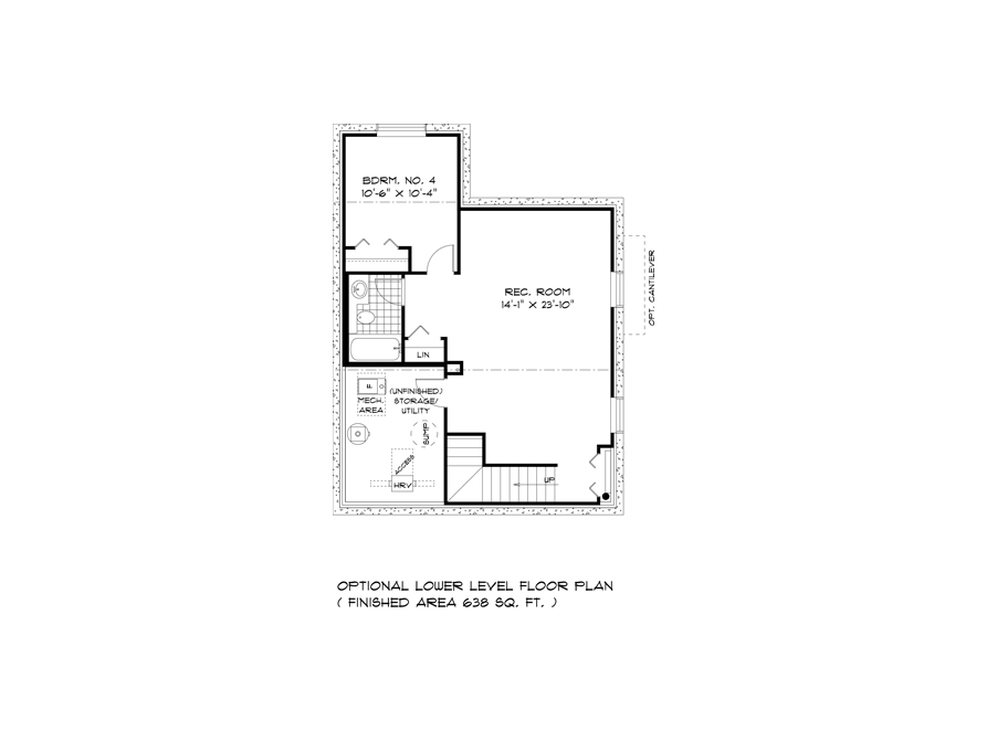 Lower Level Plan - DG 11 A The Dawson Broadview Homes Winnipeg