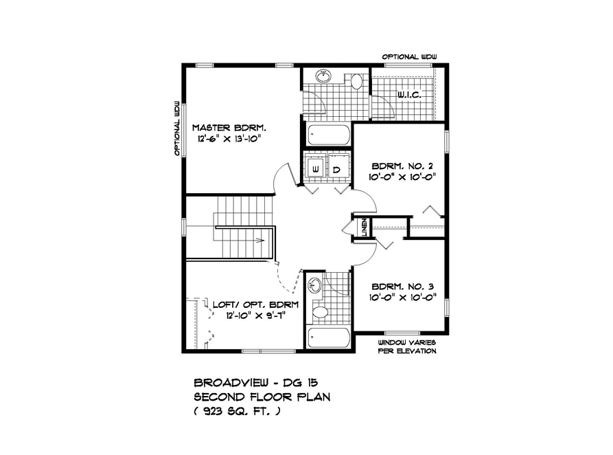 PLAN SECOND FLOOR DG15-19