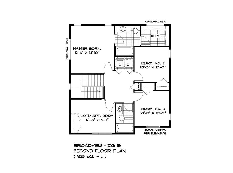 PLAN SECOND FLOOR DG15-19