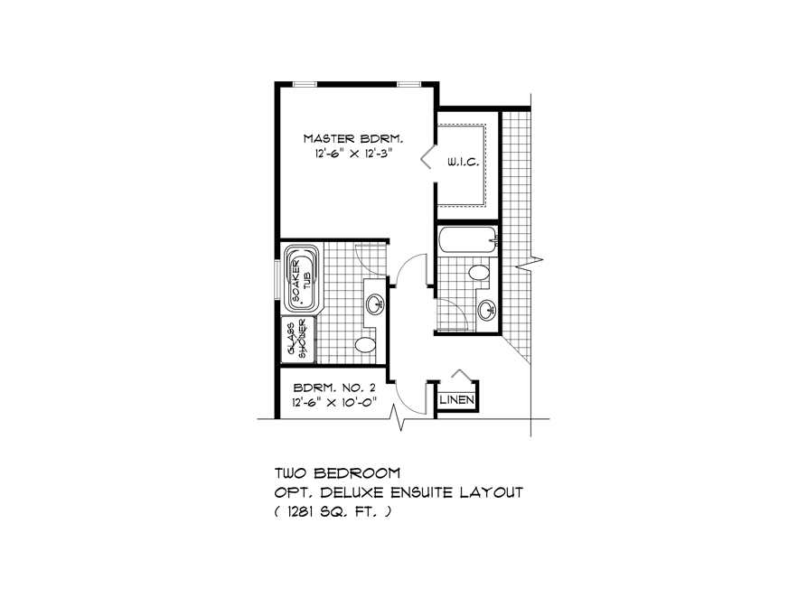 Opt Deluxe Ensuite and 2 Bedroom Plan - DG 22 A The Weston Broadview Homes