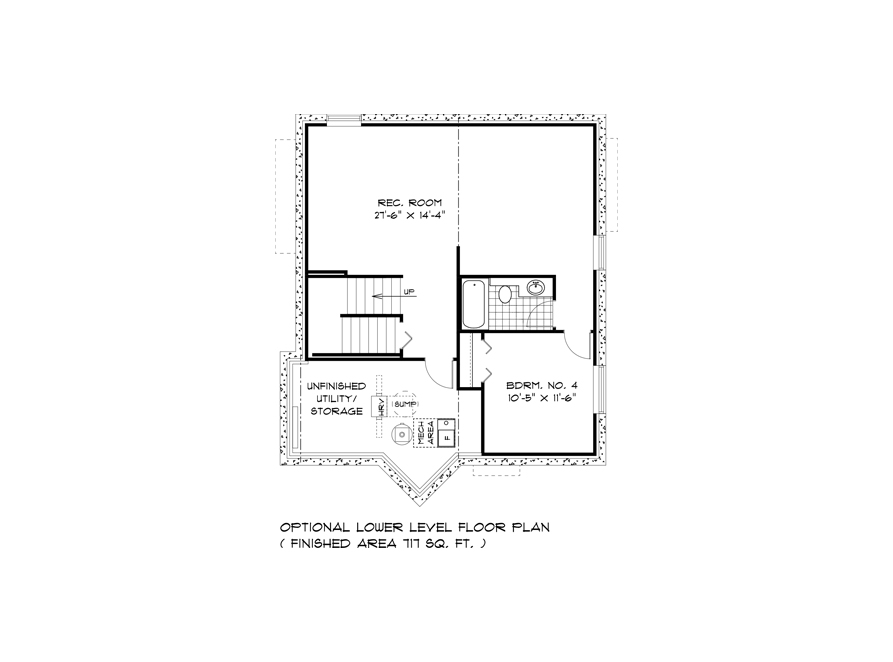 DG 44 Lower Level Floor Plan