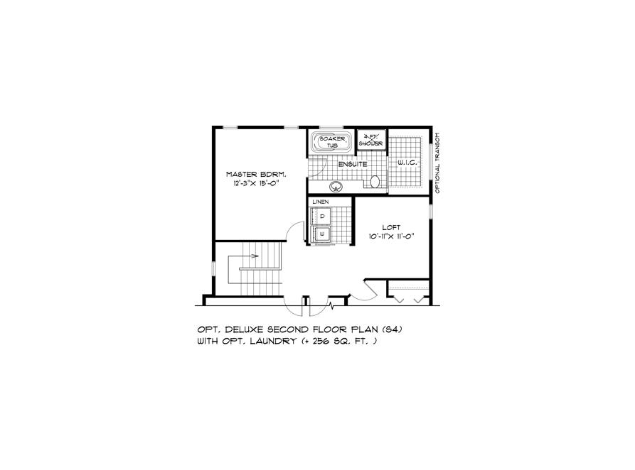 DG 44 Opt Deluxe Second Floor Plan with Opt Laundry S4