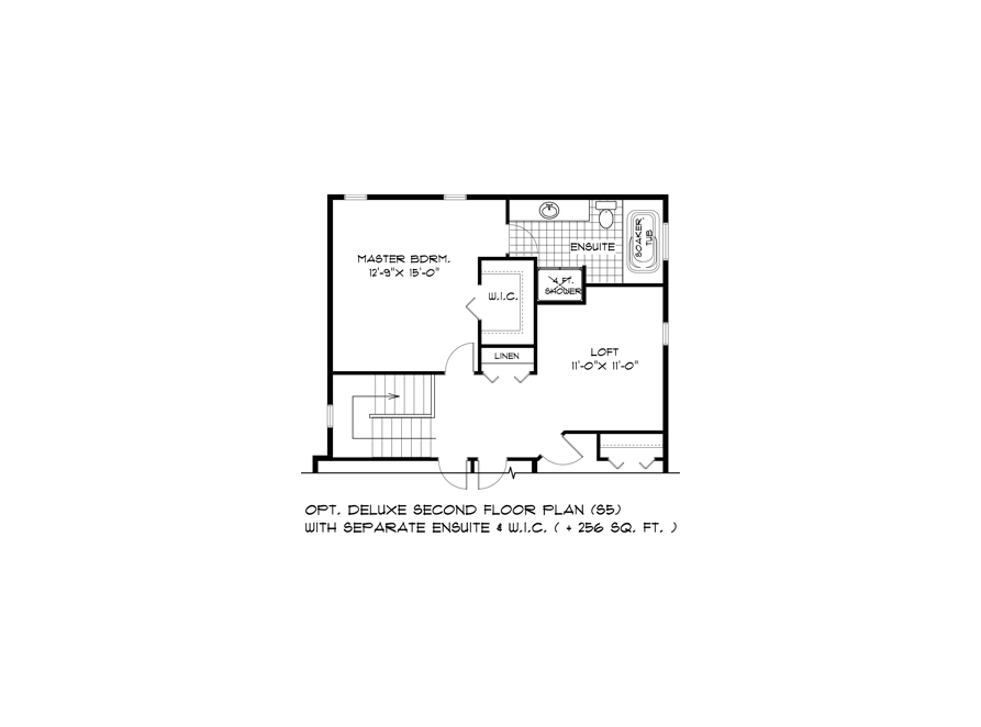 DG 44 Opt Deluxe Second Floor Plan with Separate Ensuite and WIC S5