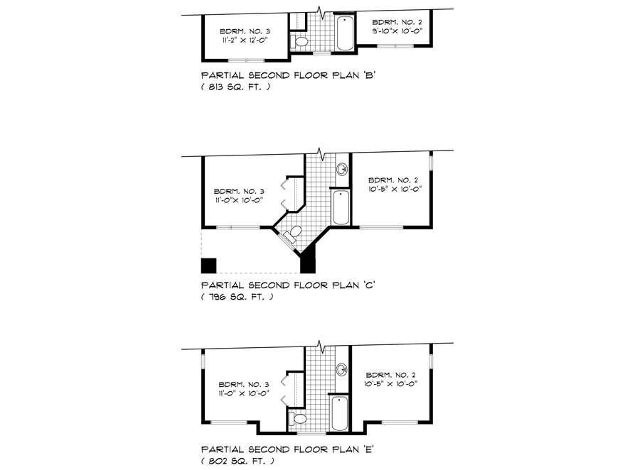 DG 44 Partial Second Floor Plan B C E