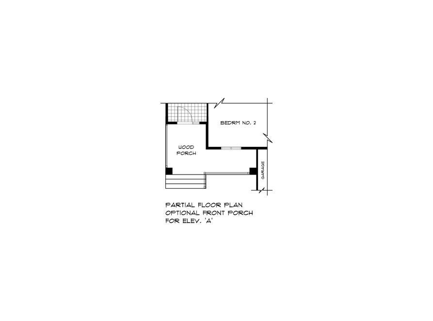 Optional Front Porch Plan - DG 50 A Pritchard Broadview Homes