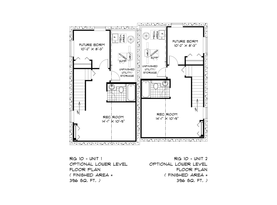 Opt Lower Level RG 10 Remmington Broadview Homes
