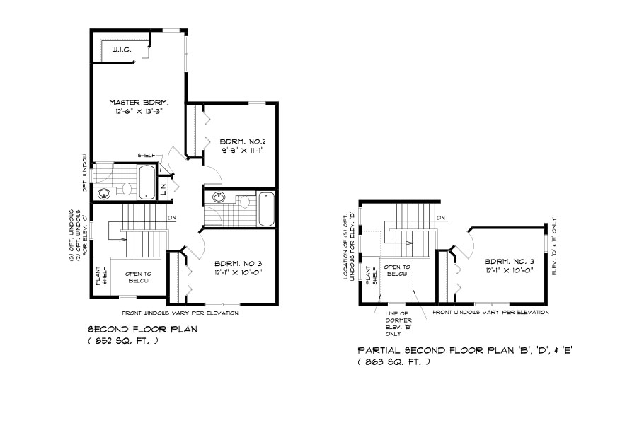 RG 70 The Willowcrest 2-storey home with 3 bedrooms and 2 bathrooms broadview homes