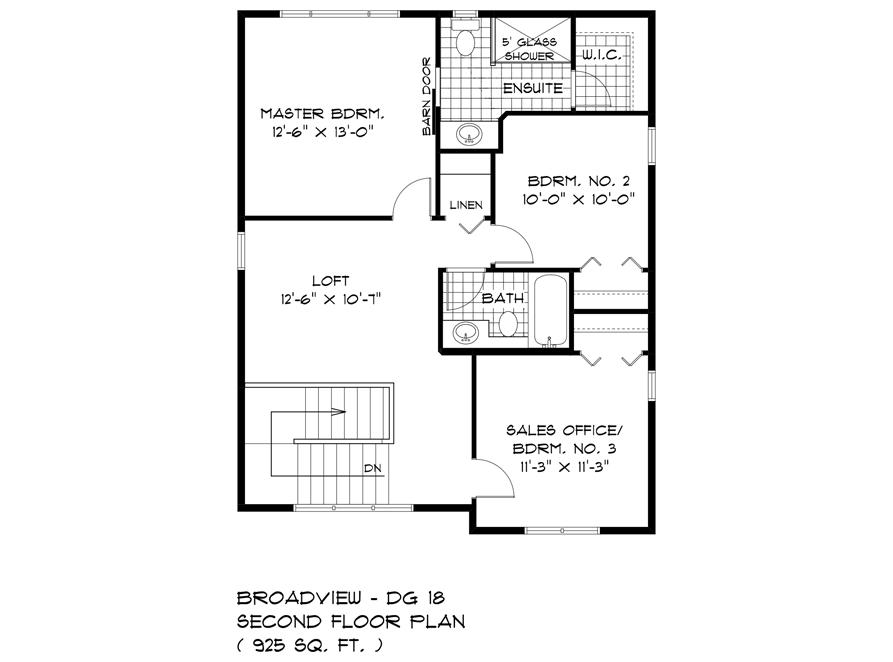 125 Kestrel - Second Floor Plan