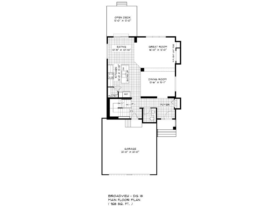 125 Kestrel - Main Floor Plan