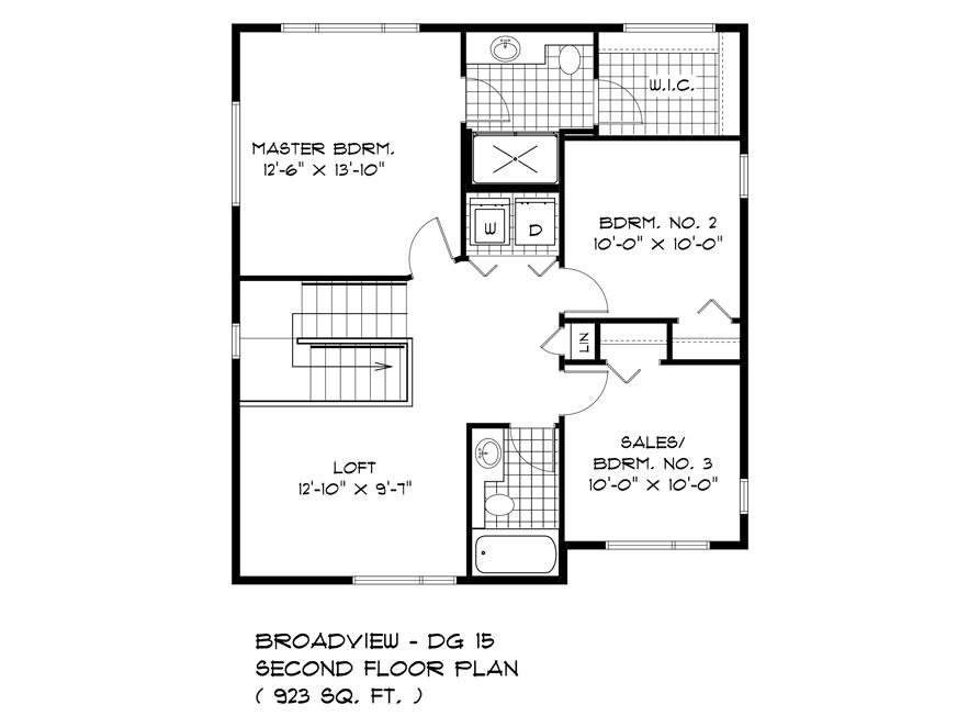 136 Kestrel Way - Second Floor Plan - DG 15 B Broadview Homes