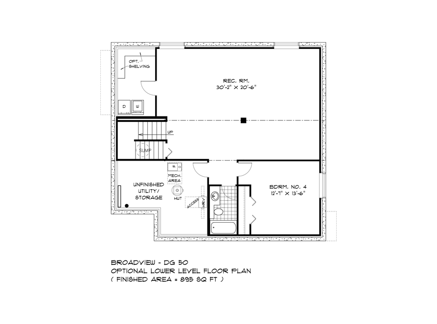 Optional Lower Level - 232 Petryk Terrace - The Pritchard DG 50 A Broadview Homes