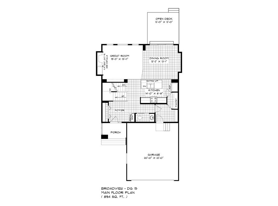 Main Floor Plan - 283 John Neufeld - The Avalon