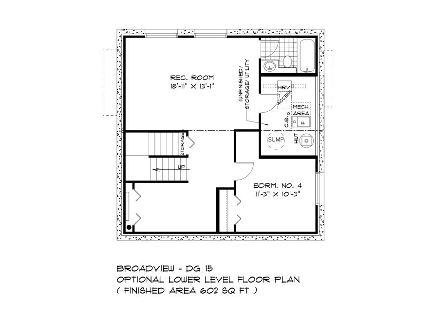 Optional Lower Level Plan - 283 John Neufeld - The Avalon