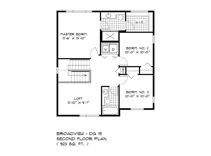 Second Floor Plan - 283 John Neufeld - The Avalon
