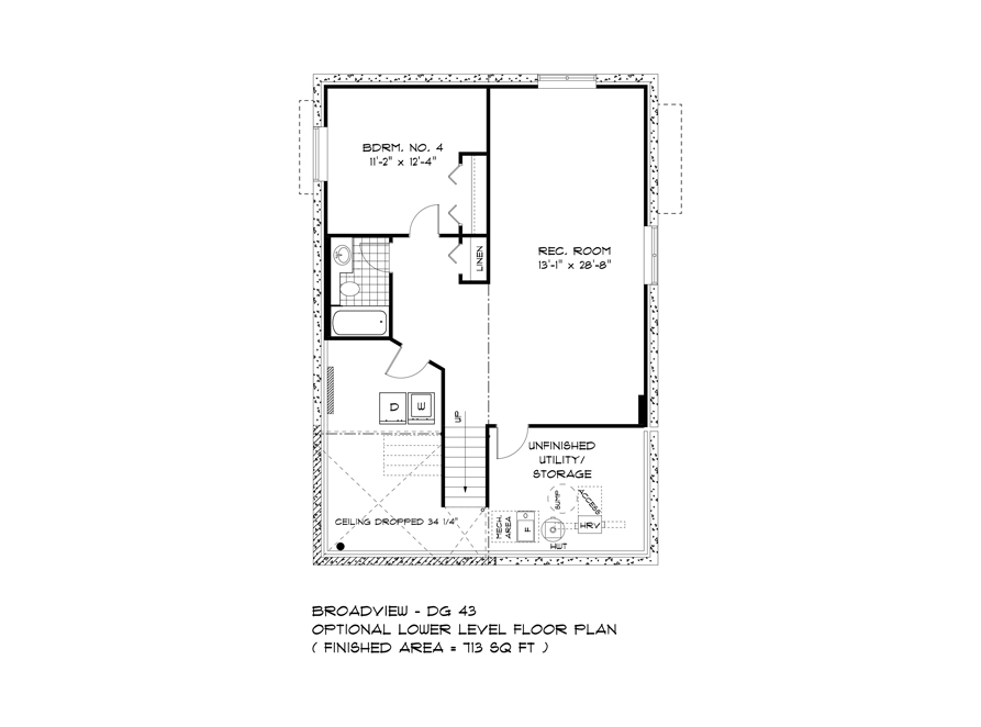 Optional Lower Level - 323 Tanager - The Highview DG 43 A Broadview Homes