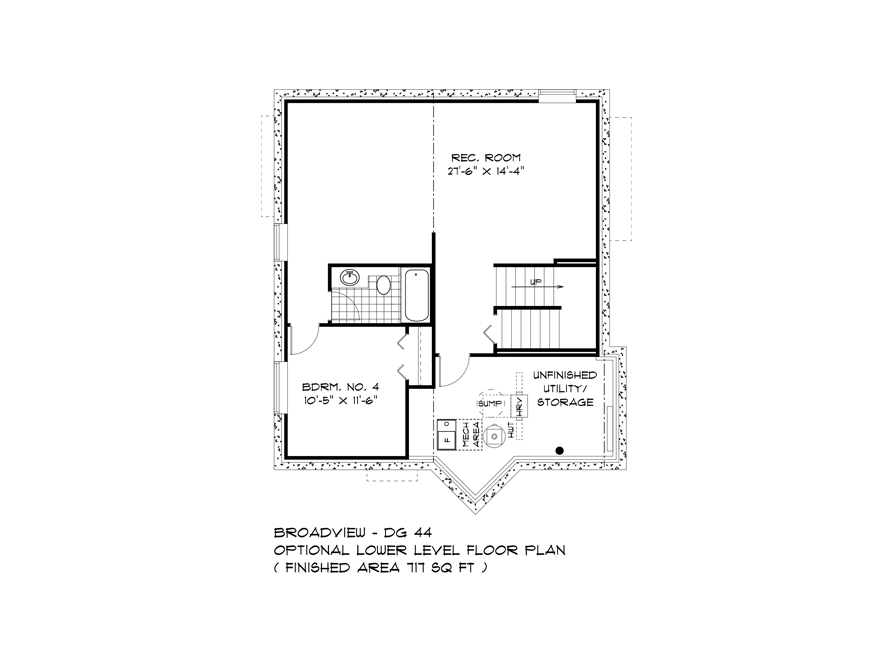 Optional Lower Level - 335 Tanager - The Monteray - DG 44 E Broadview Homes
