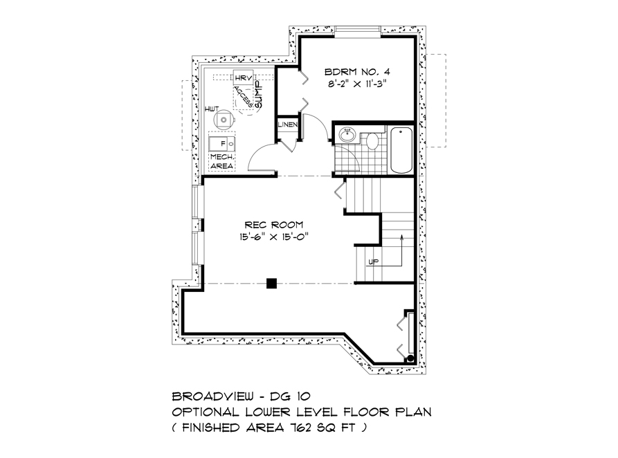 Optional Lower Level - 352 Atlas Crescent - The Preston DG 10 A Broadview Homes