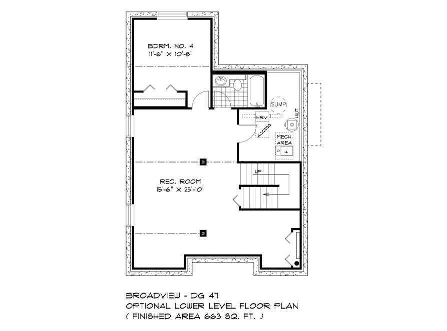 Optional Lower Level - 563 Blvd De La Seinguerie - The Upton DG 47 A Broadview Homes