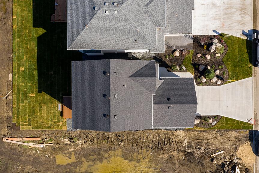 15. 125 Kestrel Way  - Aerial - The Cottonwood DG 18 D Broadview Homes