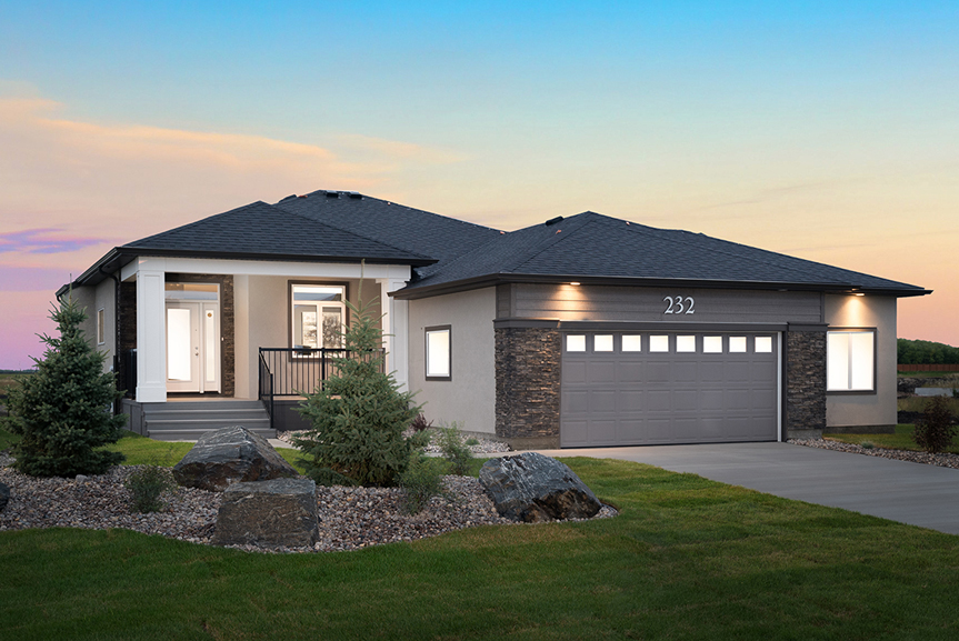 1. 232 Petryk - Front Elevation - Broadview Homes The Pritchard DG 50 A