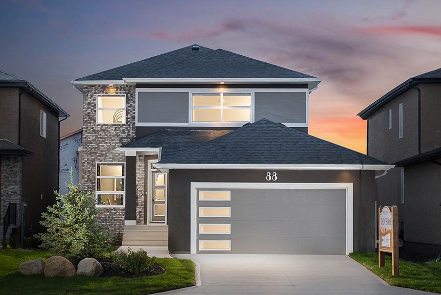 1. 88 Skyline Exterior Elevation - Broadview Homes The Monticello DG 16 G